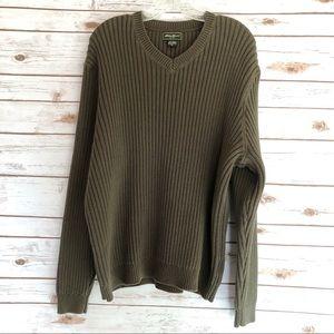 Eddie Bauer Ribbed V-neck Sweater